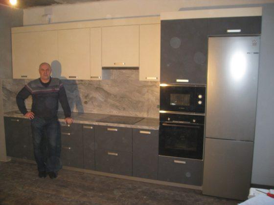 Кухня матовый графит - справа