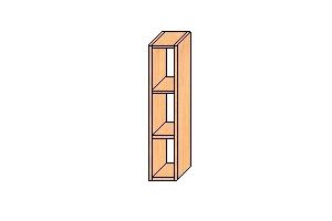 Верхний узкий шкаф с навесами 720*150*300