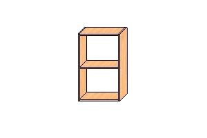 Верхние шкафы с навесами 720*450*300