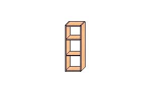 Верхний шкаф 850*300*300