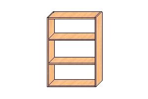 Верхний шкаф с двумя полками 850*600*300