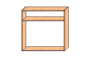 Шкаф под сушку с полкой 850*900*300