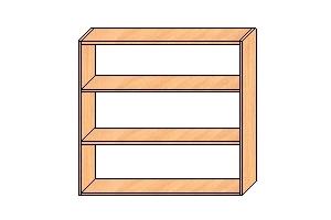 Шкаф верхний с двумя полками 850*900*300